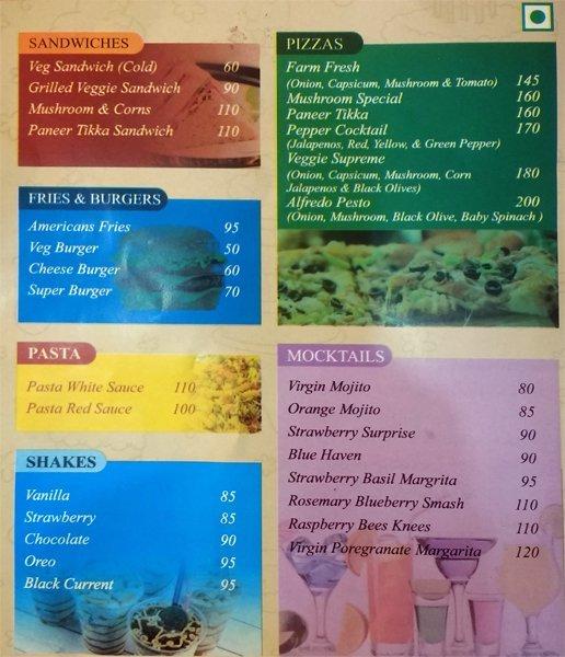 Cakes & Shakes menu 1
