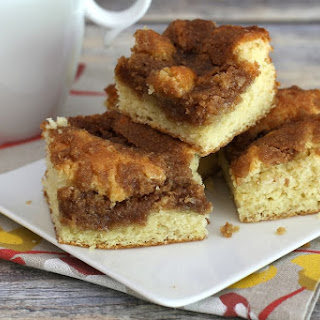 Streusel Coffee Cake with Cinnamon Crumb Topping.