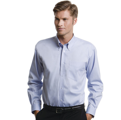 Kustom Kit Oxford Long Sleeve Shirt (Mens)