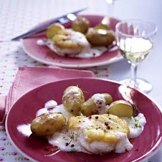 Monkfish in Ginger Cream Sauce.