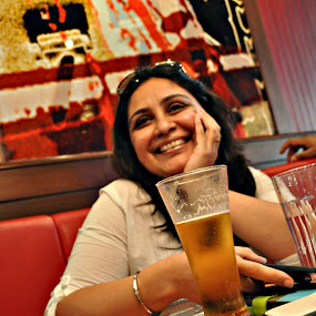 No Thanks by Satminder Jaggi - Food & Drink Alcohol & Drinks ( girl, beer, cute, pwccolddrinks, bubbly )