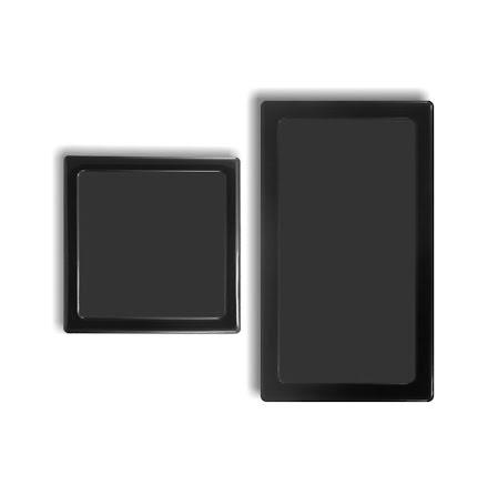 DEMCiflex magnetisk filtersett for Corsair 550D, sort