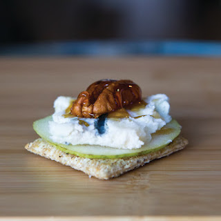 Gorgonzola, Pear and Walnut Appetizer.