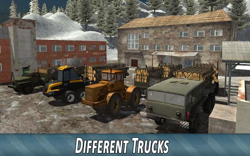 Winter Timber Truck Simulator apkmr screenshots 2