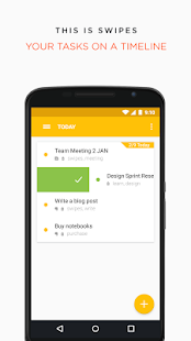 Swipes - Plan & Achieve Tasks Screenshot 1