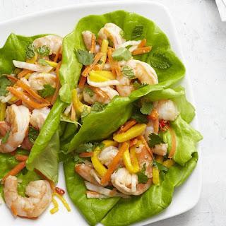 Vietnamese Shrimp & Mango Lettuce Wraps.