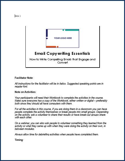 Email Copywriting Essentials - SpeakerNotes