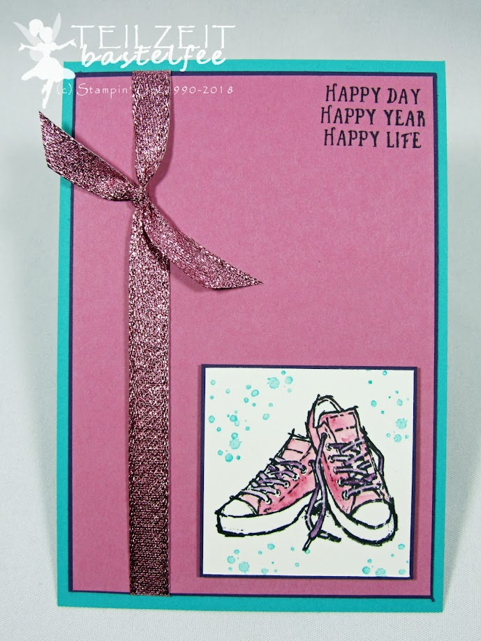 Stampin' Up! - IN{K}SPIRE_me Sketch Challenge #348, Birthday, Geburtstag, InColors, Basket of Wishes, Echt cool, Epic Celebration, SAB 2018