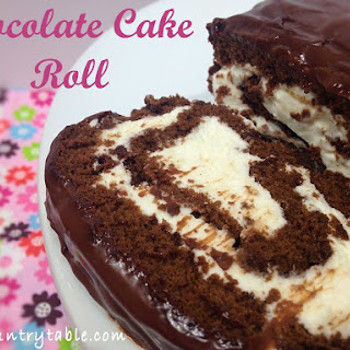 Chocolate Cake Roll With Cream Cheese Filling Recipes.
