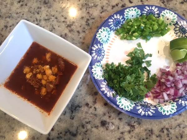 Menudo With Traditional Garnishes.