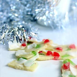 Sugar free white chocolate Christmas bark (dairy free)