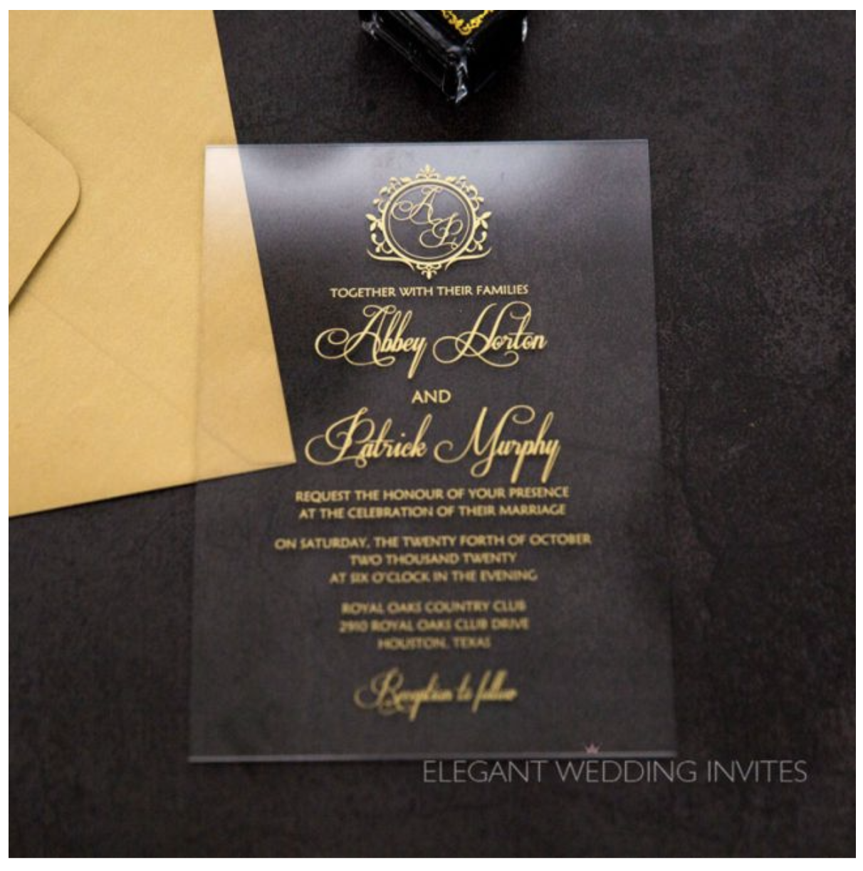 acrylic modern wedding invitation