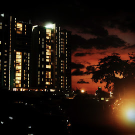 Night photography landscape by Philameh Philip - City,  Street & Park  Night