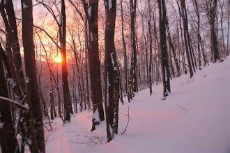 Photo: Na hrebeň Nitrických vrchov sa dostávam so západom slnka