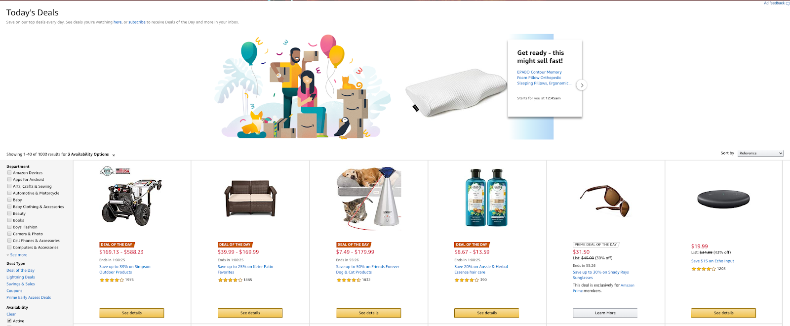 Amazon daily lightning deals