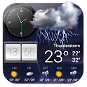 Live weather and temperature app icon