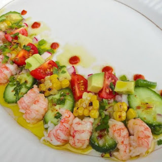 Langostino and Charred Corn Salad