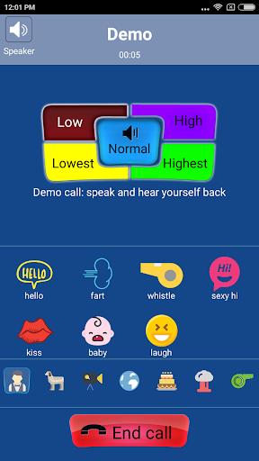Call Voice Changer - IntCall 9.3 screenshots 2