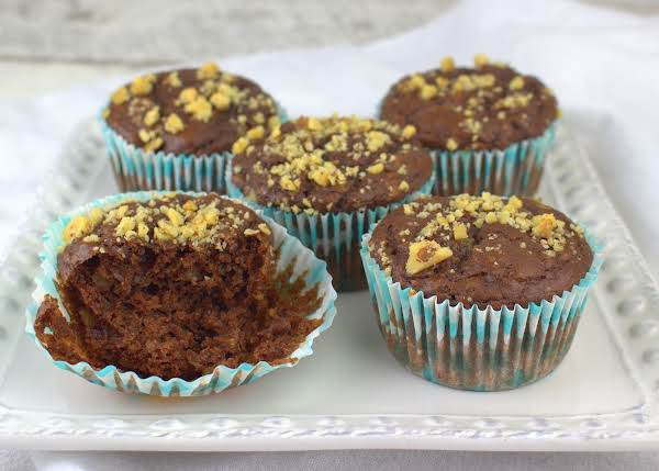 Chocolate Avocado Walnut Muffins Recipe