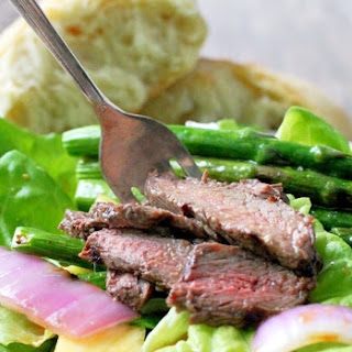Grilled Steak and Asparagus Salad with Pineapple Vinaigrette