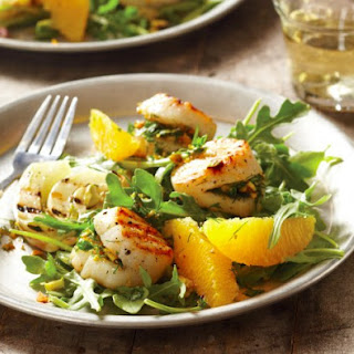 Orange Pistachio-Stuffed Grilled Scallops