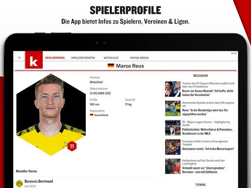 kicker Fußball News 6.6.0 screenshots 11