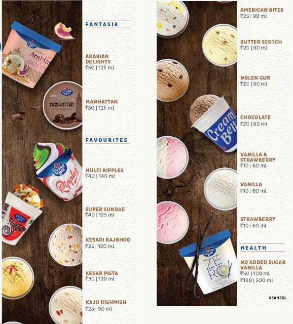 Cream Bell - Alka Enterprises menu 3