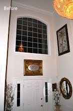Photo: (Before) Foyer door and window Toll Brothers home Northampton, PA