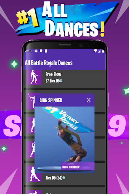 Viewer Dance: All Battle Royale Dances and Emotes Android App Screenshot