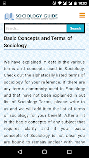 Sociology Guide- screenshot thumbnail