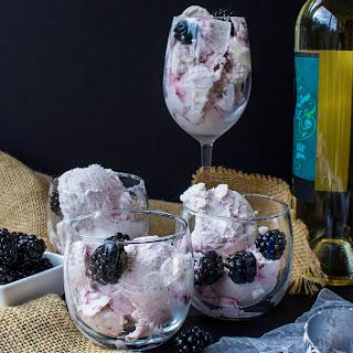 Moscato & Blackberry Ice Cream