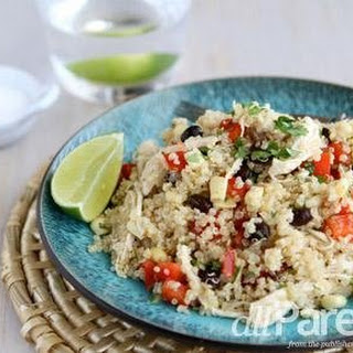 Quinoa Salad With Chicken, Black Beans & Chipotle Dressing