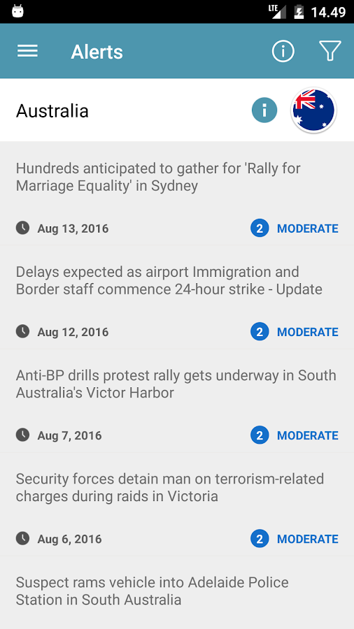 MySafeTravel- screenshot