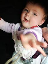 Photo: repülőgépen (8,5 hónapos)