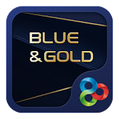 (FREE) Blue Gold GO Launcher Theme