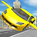 Flying car game : City car games 2020 icon