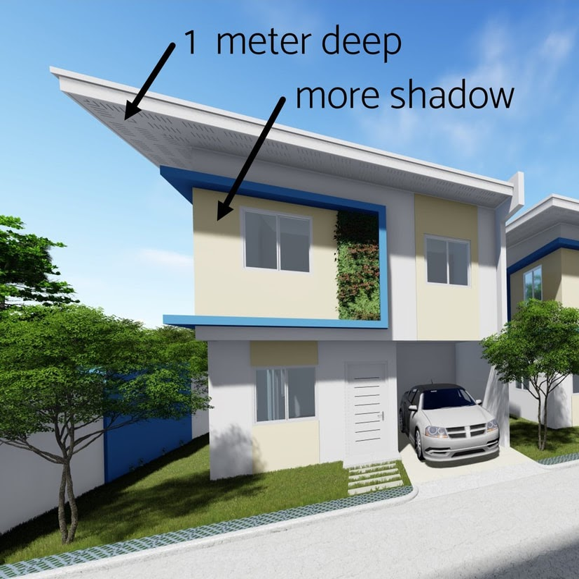 Blu Homes Gakakan wide roof overhang