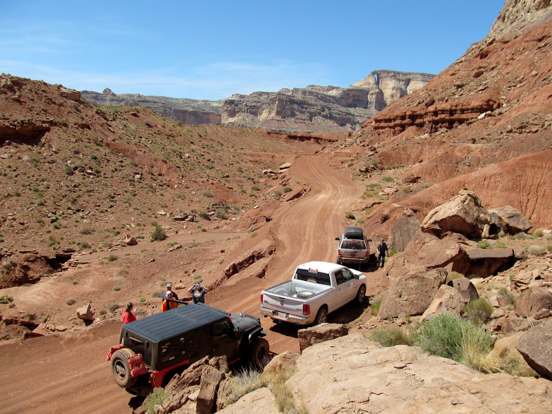 Photo: Road near Tomsich Butte with Hondu Arch in the distance