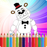 How to color five nights freddy
