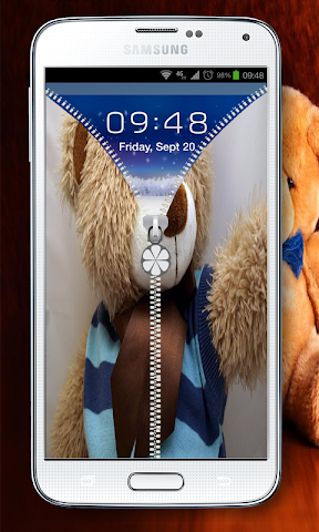 android best teddy Zipper Lock Screenshot 3
