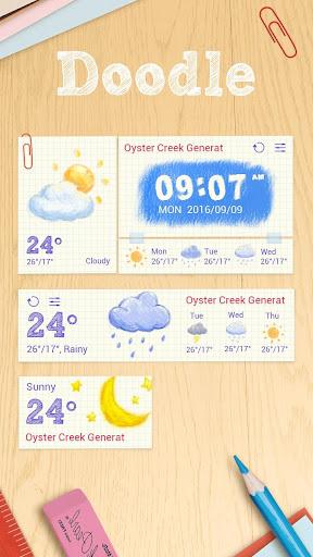 玩免費個人化APP|下載Doodle GO Weather Widget Theme app不用錢|硬是要APP