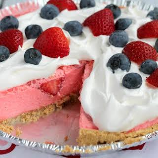 Strawberry Cream Cheese JELL-O Pie.