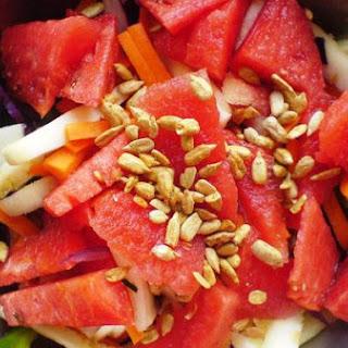 Watermelon, Zucchini, Carrot Salad