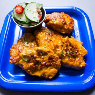Thai Chicken Cakes (Tod Mun Gai) with Cucumber Relish