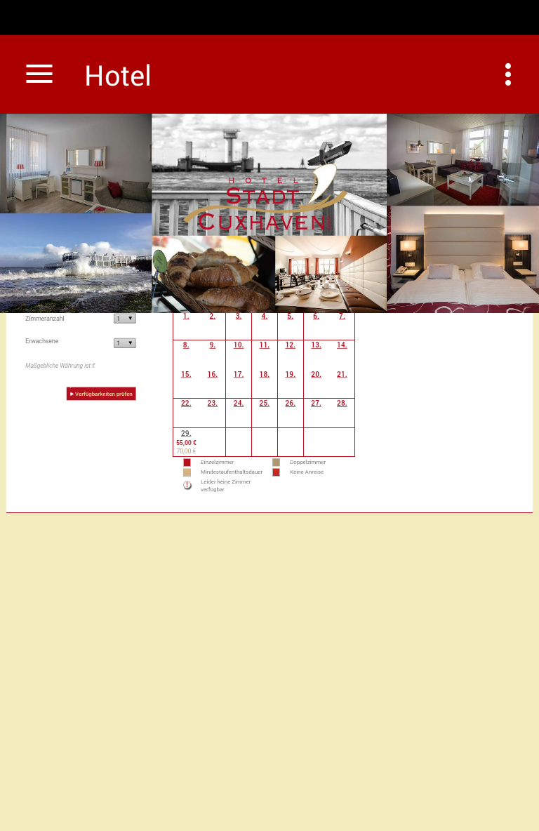 Скриншот Hotel Stadt Cuxhaven