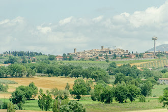 Photo: Montefalco, with the out of place water tower