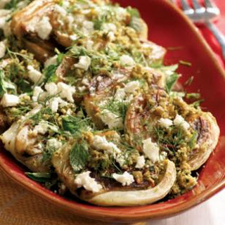 Roasted California Fennel with Olive Tapenade, Feta & Mint