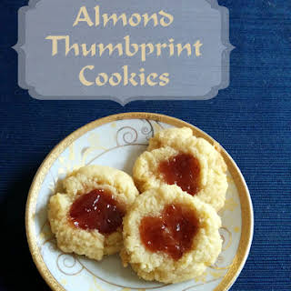 Dairy-Free Almond Thumbprint Cookies.