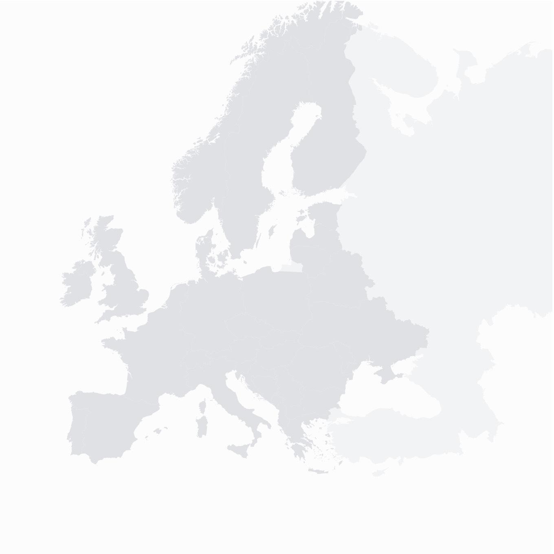 Karte Europas mit den acht Windparks