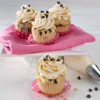 Maple Chocolate Chip Mini Cupcakes With Maple Buttercream Frosting.